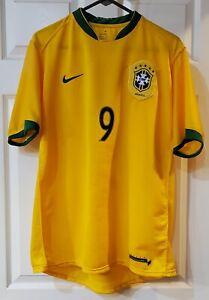 Brazil Futbol Nike Sphere Dry Ronaldo Jersey  Size Large