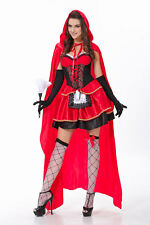 HOT Christmas Halloween Costume Adult Cosplay Little Red Riding Hood Fancy Dress