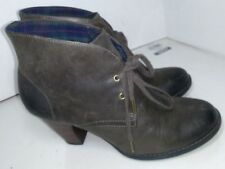 Indigo by Clarks Brown Leather Booties Ankle Boots Womens Size 8 M