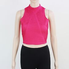 River Island Womens Size 8 Magenta Textured Sleeveless Top