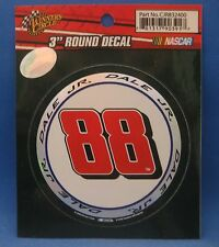 "DALE EARNHARDT JR. #88 ROUND DECAL 3"" NEW WINNER'S CIRCLE"