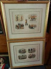 "Set of 2 Framed Prints ""Life In The Army"" by Richard Simkin"