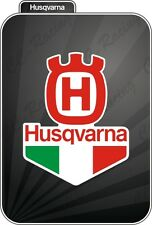 ADESIVO STICKER HUSQVARNA TRICOLORE MOTOCROSS CROSS MX RACE RACING ENDURO MOTO