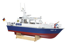 Krick contrôle radio police motor launch 1:20 scale model boat kit