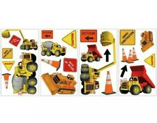 Construction 23 Boys Signs Wall Stickers Dump Trucks Hat Decals Room Decor Work