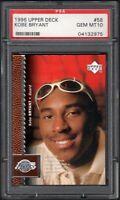 1996 Upper Deck #58 Kobe Bryant Lakers RC Rookie HOF PSA 10 GEM MINT