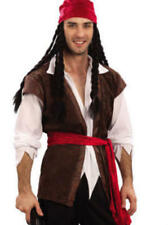 Caribbean Pirate Man XL Mens Fancy Dress Adult Pirates Costume Outfit New