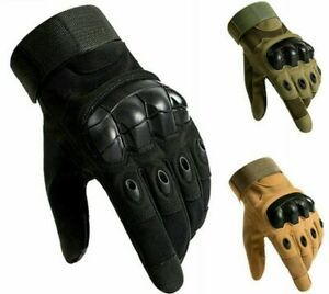Full Finger Tactical Gloves Protective Hard Knuckle Military Hunting Airsoft