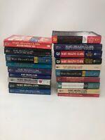 Lot of 19 Mary Higgins Clark Mystery Suspense Thriller Novel Paperback Books MIX