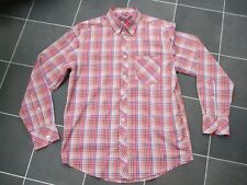 "Classic Red Check Ben Sherman Long Sleeve Shirt- Size Medium (44"" chest)"