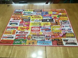 CANDY WRAPPERS ~ 1000 PC. WHITE MOUNTAIN PUZZLE ~ ART- CHARLIE GIRARD ~ COMPLETE
