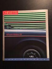 Color Catalog for 1987 Chevrolet Chevette