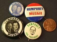 1968 Hubert H.Humphrey-Edmund Muskie for President 4 pin set with 2 jugates-HHH!
