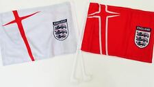 England F.A. Car Flag Twin Pack Home & Away European Cup 2016 Come on England