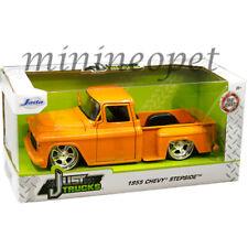 Jada Just Trucks 99040 1955 Chevy Stepside Pick Up Truck 1/24 Diecast Car Orange