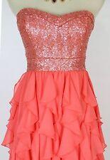 Windsor $100 Dress Size 7 Coral Knee-Length Junior Cocktail Prom Formal Club