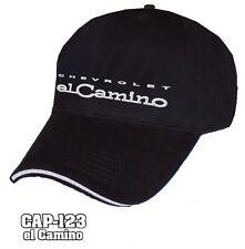 Chevrolet El Camino Chrome Embossed Hat Cap - Black