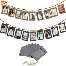 Party Photo Booth Props Decoration Paper Picture Holder Frame Wooden Clip