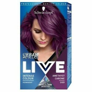 Schwarzkopf Live Colour Lift Permanent Hair Color Cream Dye Shades U69 Amethyst