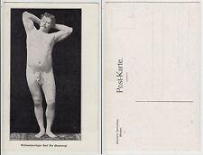 Hamburg nackter Mann Ringer Artist male Circus Boy nude c.1915 sporty Gay