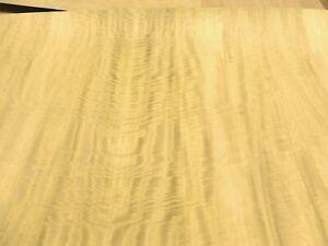 "Satinwood Movingui figured mottled wood veneer 49"" x 23"" on paper backer 1/40"""