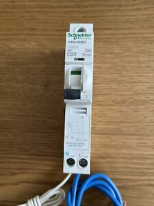 Schneider iC60H Acti9 C32 RCBO 30mA 10kA Rated