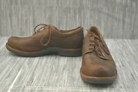 Dansko Josh Plain Toe Oxford Casual Shoes, Men's Size 8.5-9/EU 42, Brown