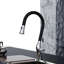 Kitchen Sink Tap With Pull Out Spray Basin Mixer Thermostatic Faucet Black USA