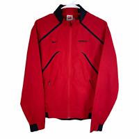 Georgia Bulldogs Nike Team Full Zip Jacket Women's Medium 8-10 Red Black Storm