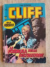 CLIFF n.1 La formula della distruzione - Edit. Corno Max Bunker completo ADESIVI