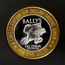 "Bally's Ltd Ed. $10 Gaming Token, .999 Fine Silver ""Running Seven"" design!"