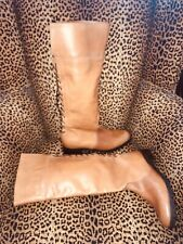 """(9.5) CHARLES DAVID """"Jayne"""" Leather Lace Up Accent Knee High             NWOB"""