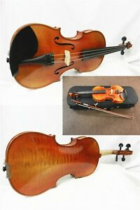 Used Advanced Violin 3/4 Size With Case & Dominant Strings,John Woo Violins