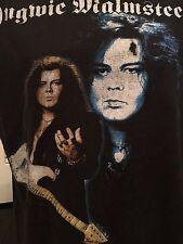 Rare Vintage Yngwie Malmsteen Tour Shirt Sz L/XL Guitar Rock Classical Metal God