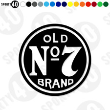 Jack Daniels Old No 7 Brand Roundel Sticker Vinyl Decal Old Whiskey  6378-0119