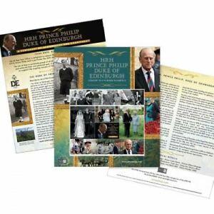 Isle of Man 2021 HRH Prince Philip Duke of Edinburgh Sheetlet (CTO)