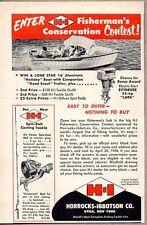 1958 Print Ad H-I Horrocks-Ibbotson Fishing Rods Reels Contest Lone Star Boat