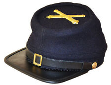 American Civil War US Artillery Enlisted Kepi Cap Hat & Badge Large 58/59cms ACW
