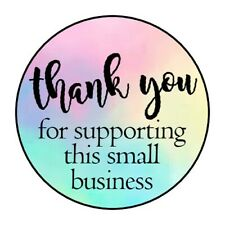 """THANK YOU SUPPORTING BUSINESS STICKER LABEL ENVELOPE SEAL 1.2"""" OR 1.5"""" ROUND"""