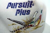Pursuit Plus Pheasants Embroidery Khaki 80s Farmer Trucker Not Worn Hat Cap