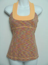 Lululemon Womens Scoop Neck Tank Top Wee Are From Space Dye Orange Size 6