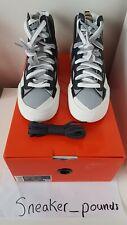 Nike X Sacai Blazer Mid - Black/Wolf Grey White - UK 9.5 US 10.5 EU 44.5