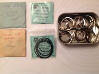 Vintage Waterproof Watch  Gaskets Parts From Watchmakers Collection Spare Parts