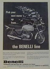 BENELLI FULL-LINE Motorcycle Ad 1972 Tornado Banshee Panther