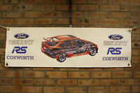 Ford Escort RS Cosworth large pvc  WORK SHOP BANNER garage  SHOW BANNER office