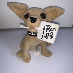 "Yo Quiero Taco Bell Chihuahua Dog Free Tacos Sign 6"" stuffed Plush Talks! Lizard"