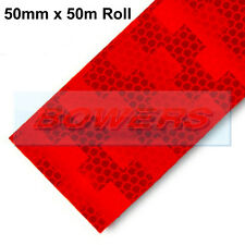 AVERY DENNISON V-6722B RED REFLECTIVE CONSPICUITY TAPE 50mm X 50M RIGID TRAILERS