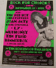 Hollywood Palladium Rock for Choice Red Hot Chili Peppers Loren signed poster