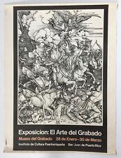 Exp El Arte Del Grabado Albrecht Durer Puerto Rico Poster Cartel Serigraph Print