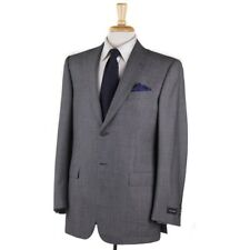 NWT $2995 ERMENEGILDO ZEGNA Woven Gray Nailhead Wool Suit 40 R Classic-Fit